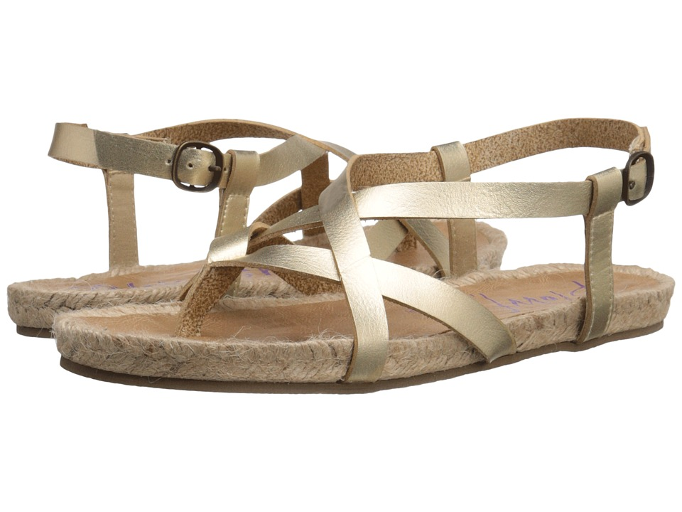 Blowfish Granola Rope Gold Dyecut PU Womens Sandals