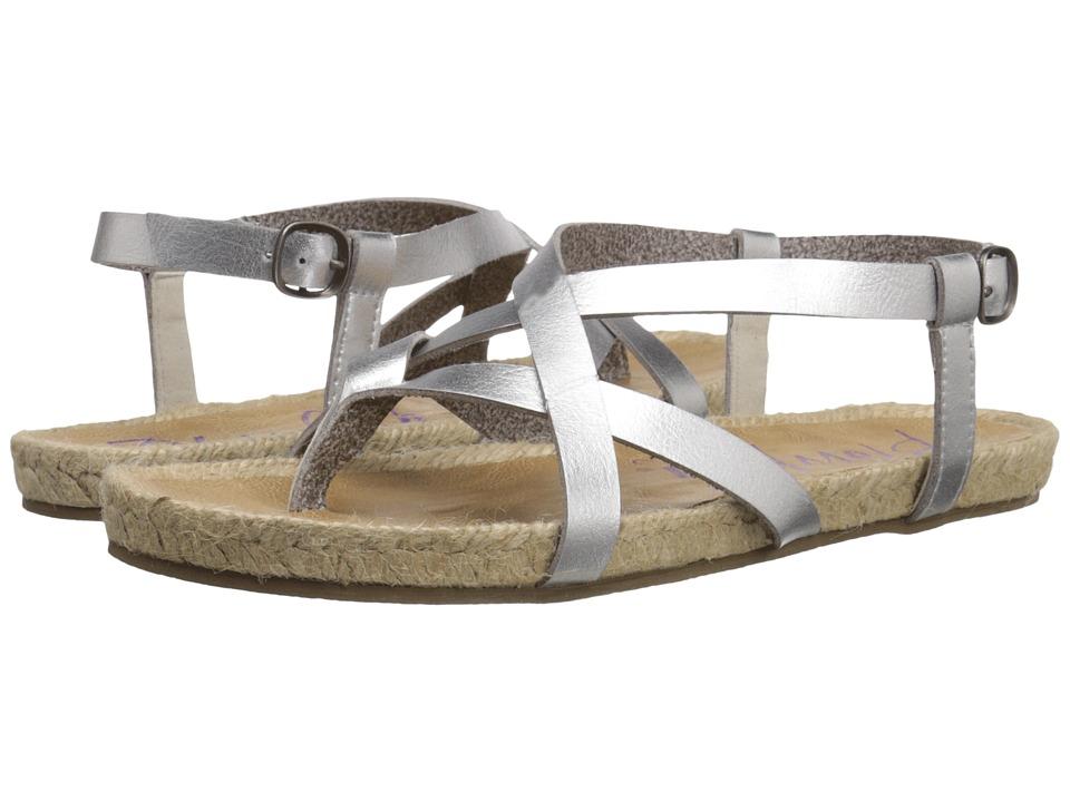 Blowfish Granola Rope Silver Dyecut PU Womens Sandals