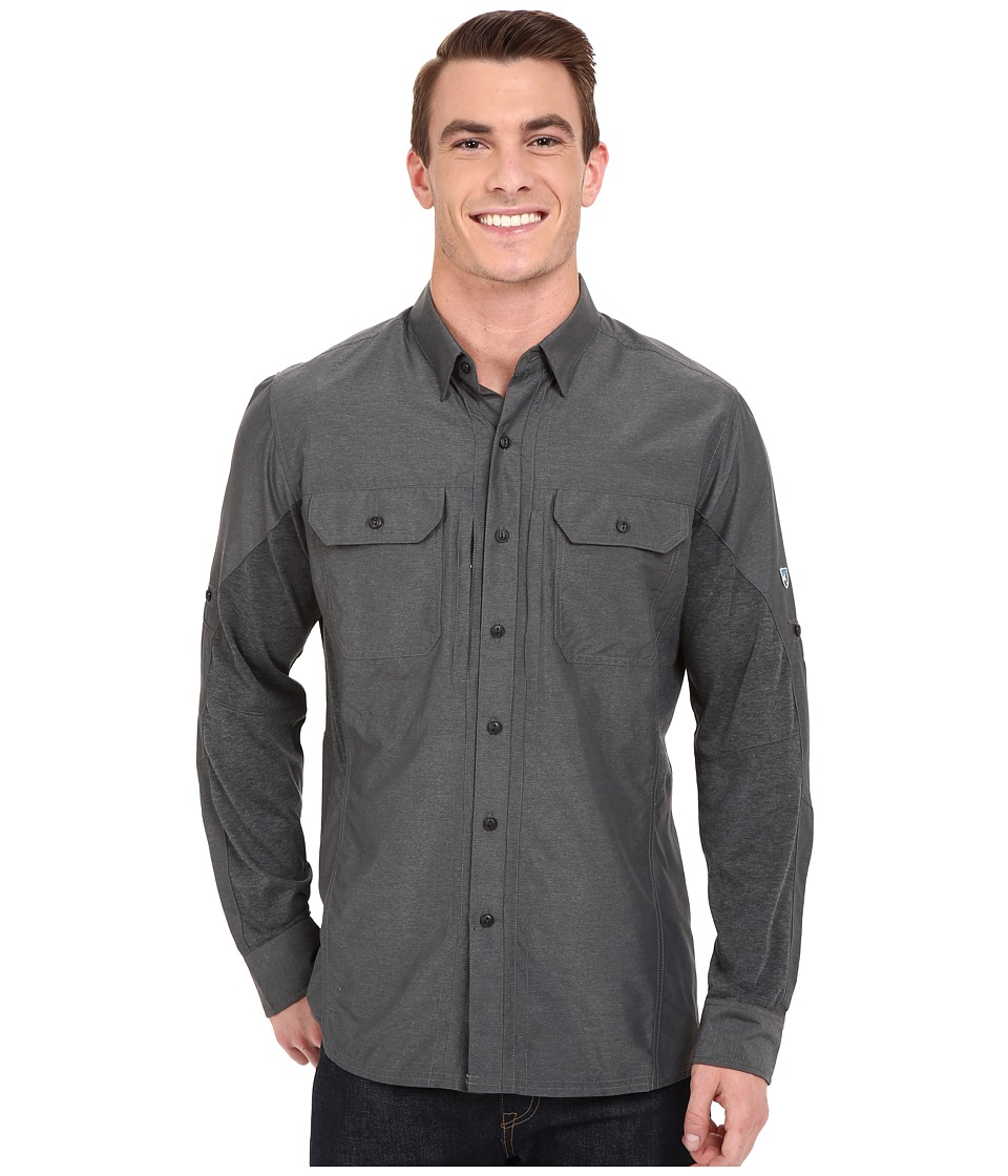 Kuhl Airspeed Long Sleeve Top Carbon Mens Long Sleeve Button Up