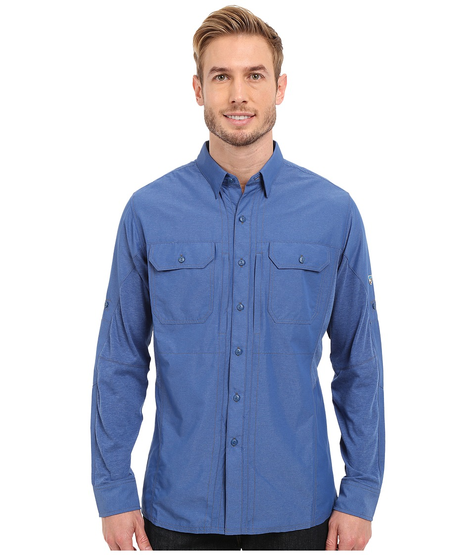 Kuhl Airspeed Long Sleeve Top Lake Blue Mens Long Sleeve Button Up