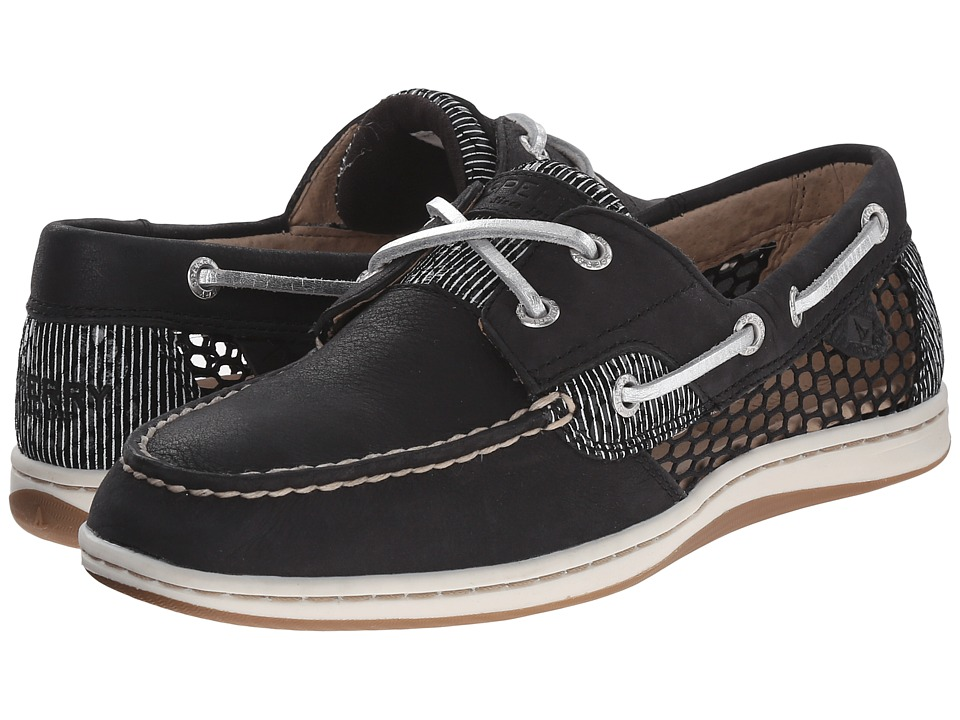 Sperry Top Sider Koifish Open Mesh Black Womens Lace up casual Shoes
