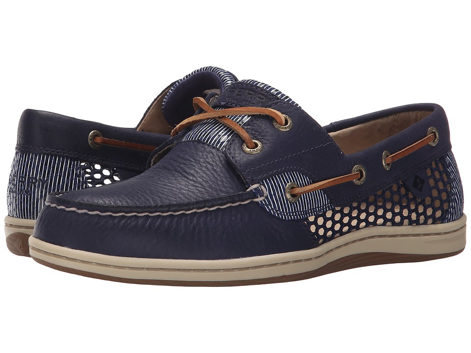 Sperry Top Sider Koifish Open Mesh Navy Womens Lace up casual Shoes