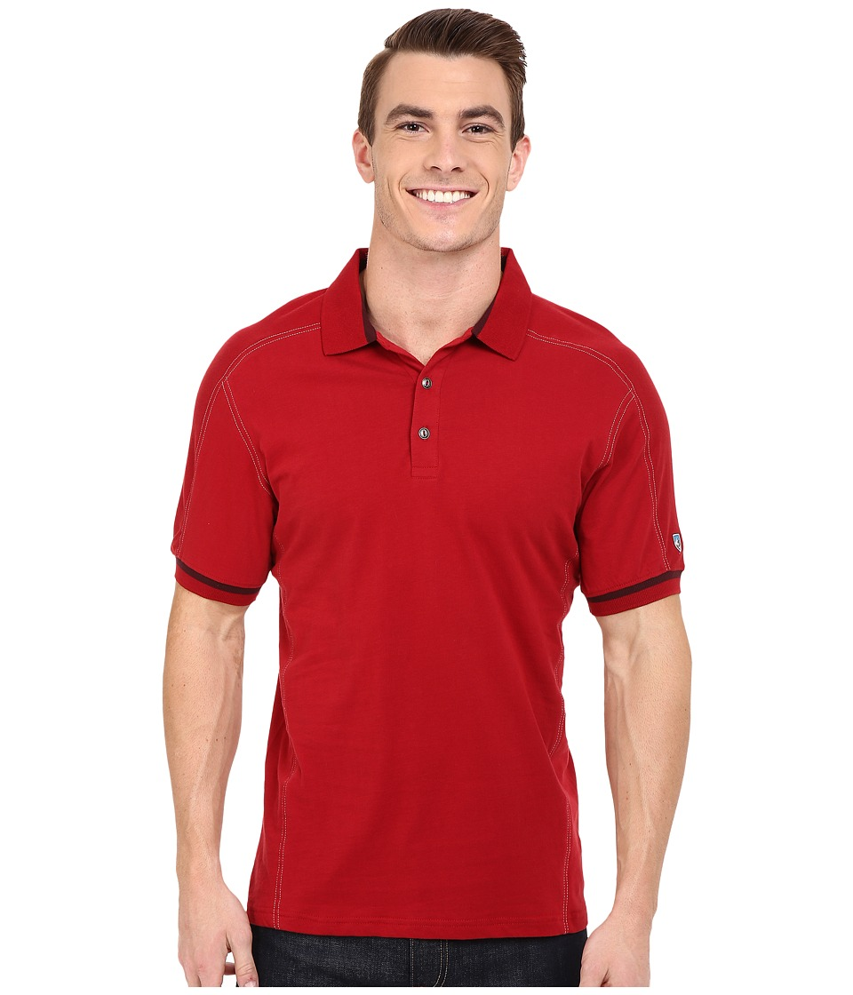 Kuhl Edge Short Sleeve Shirt Rio Red Mens Short Sleeve Button Up