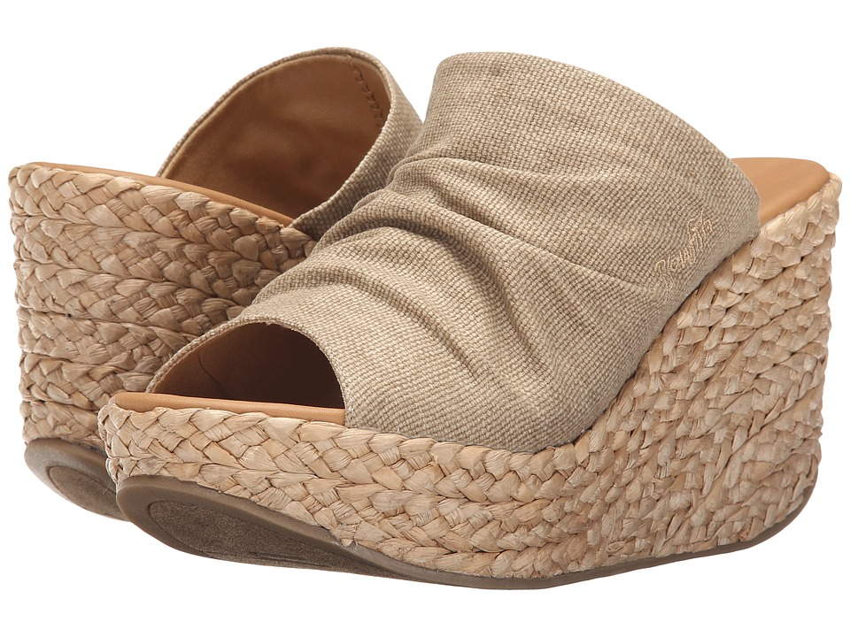 Blowfish Drapey Desert Sand Rancher Canvas Womens Wedge Shoes
