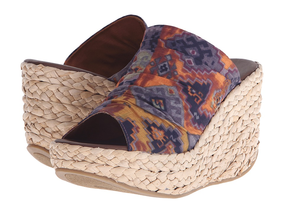 Blowfish Drapey Rust Mecca Print Fabric Womens Wedge Shoes