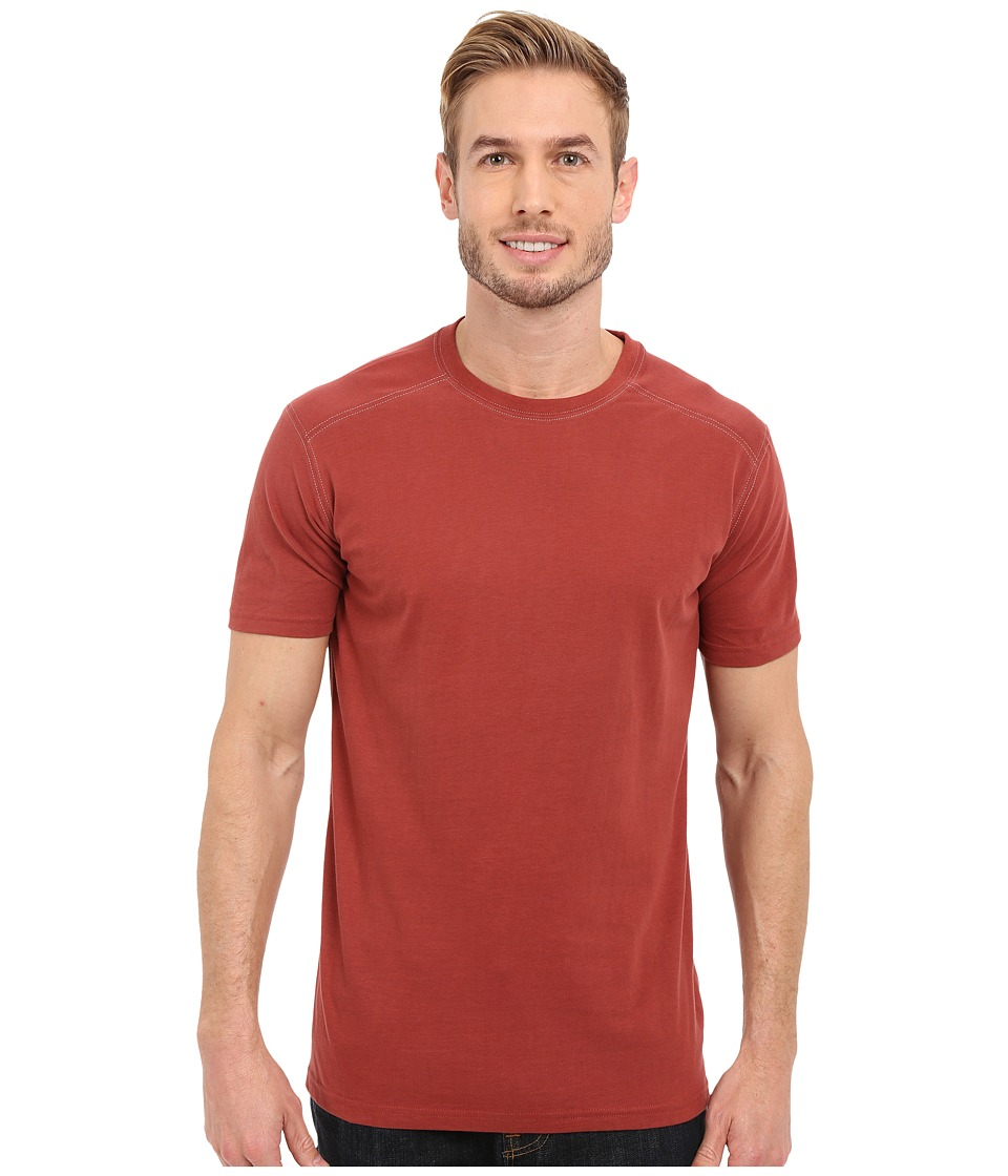 Kuhl Bravado Short Sleeve Top Sun Dried Tomato Mens Short Sleeve Pullover