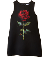 Dolce & Gabbana Kids - Single Rose Crepe Dress (Big Kids)