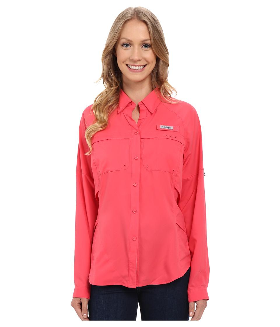 Columbia Airgal Long Sleeve Shirt Bright Geranium Womens Long Sleeve Button Up