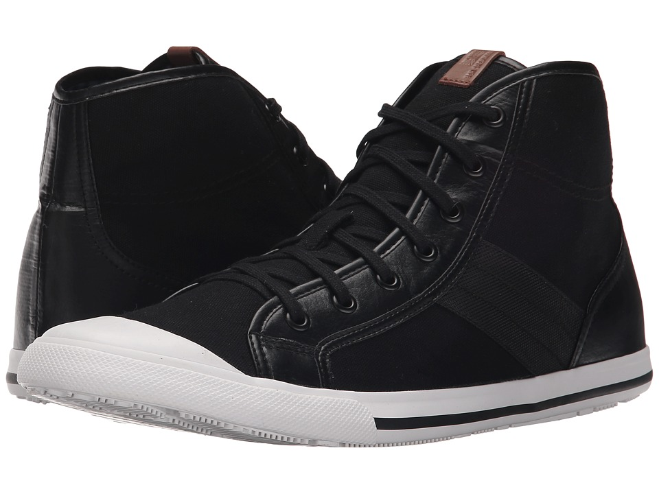 Ben Sherman Eddie Hi Jet Black Mens Shoes
