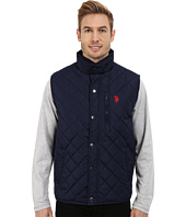 U.S. POLO ASSN. - Diamond Quilted Vest with Corduroy Collar