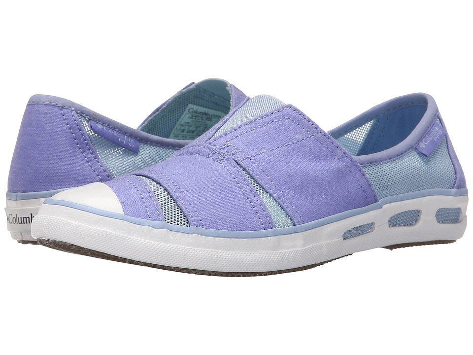 Columbia Vulc N Vent Slip PFG Pale Purple/Ocean Water Womens Slip on Shoes