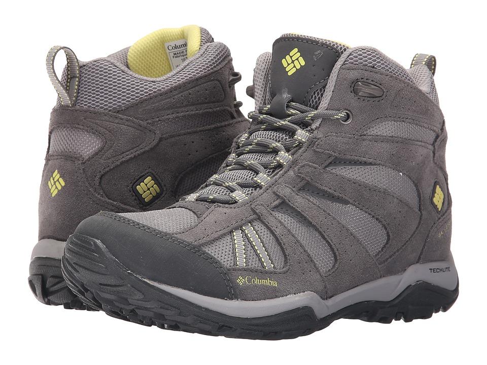 Columbia - Dakotatm Drifter Mid Waterproof (Light Grey/Sunnyside) Womens Shoes