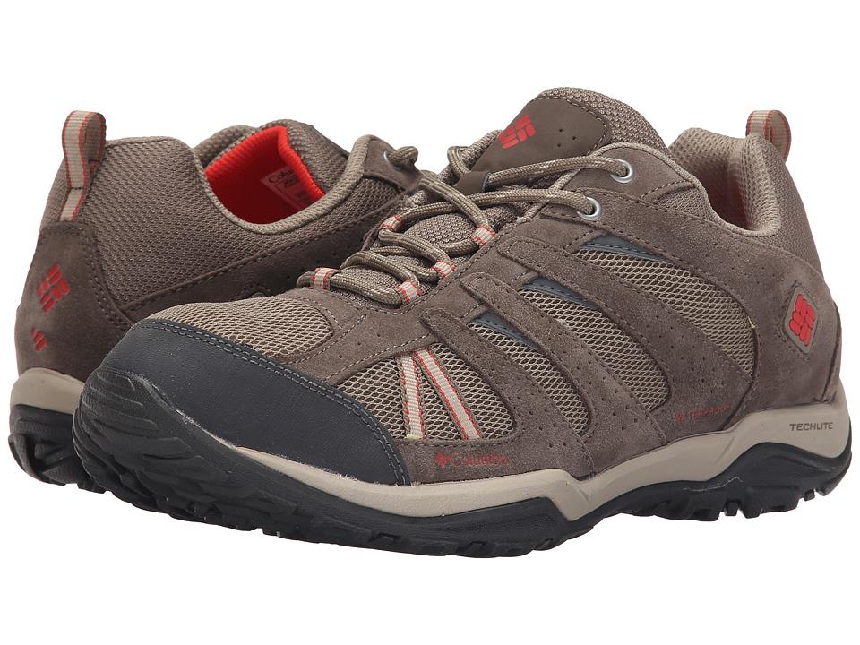 Columbia - Dakotatm Drifter Waterproof (Pebble/Poppy Red) Womens Shoes
