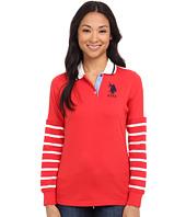 U.S. POLO ASSN. - Striped Sleeve Jersey Polo