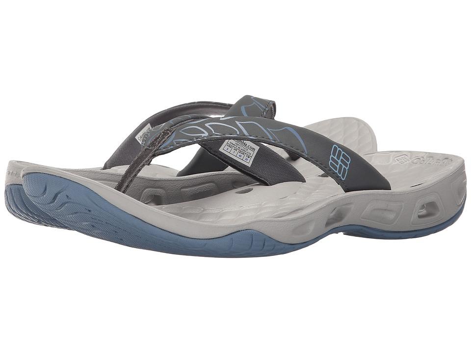 Columbia Sunbreeze Vent Flip Dark Fog/Sky Blue Womens Shoes