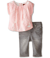 7 For All Mankind Kids - Lace Tee and Denim Set (Infant)