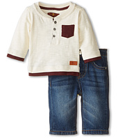 7 For All Mankind Kids - Pocket Henley and Denim Set (Infant)