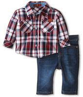 7 For All Mankind Kids - Plaid and Denim Set (Infant)