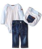 7 For All Mankind Kids - Three-Piece Bib Set (Infant)