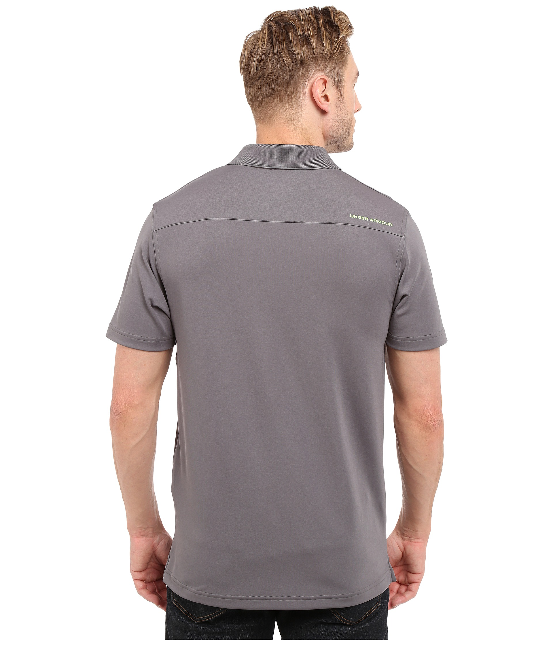 Under armour ua fish hook polo 2 granite free for Under armour fish hook