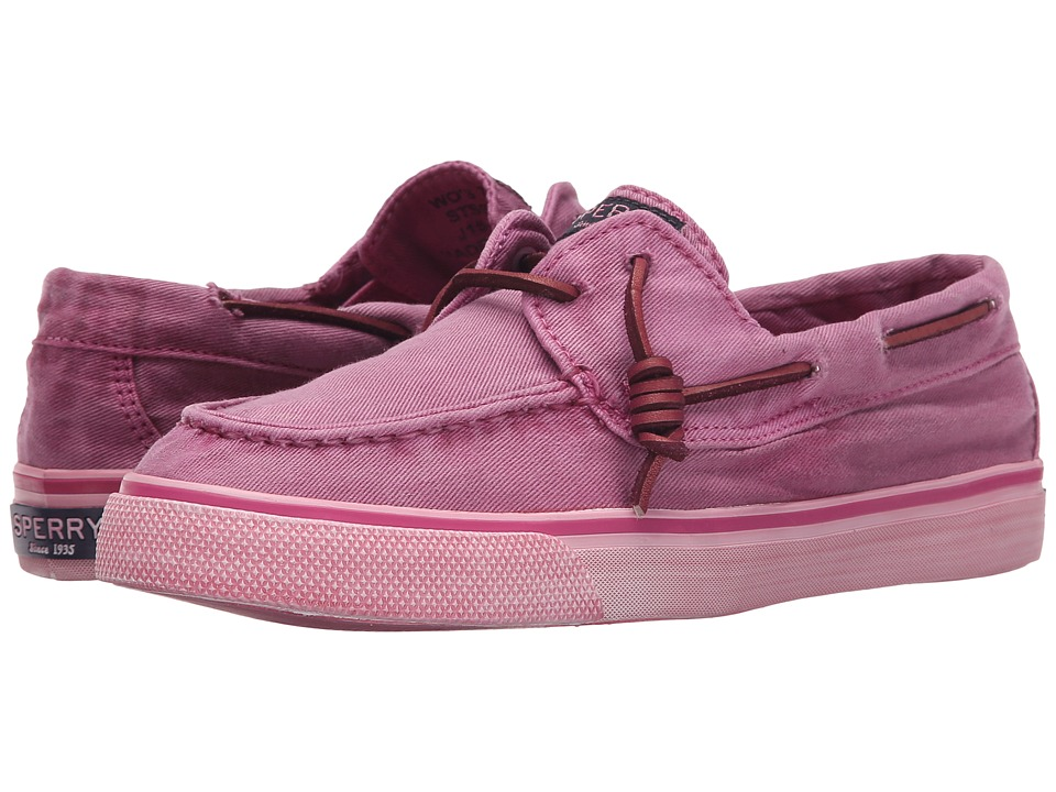 Sperry Top Sider Bahama Washed Bright Pink Womens Lace up casual Shoes
