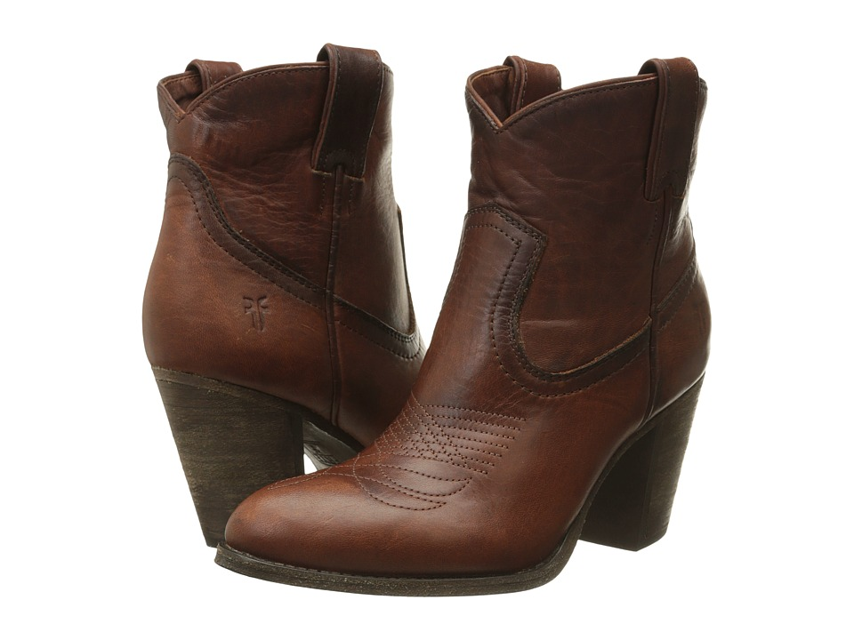 Frye Ilana Pull On Short Cognac Washed Oiled Vintage Womens Pull on Boots