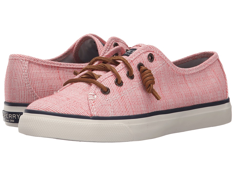 Sperry Top Sider Seacoast Cross Hatch Coral/Ivory Womens Lace up casual Shoes