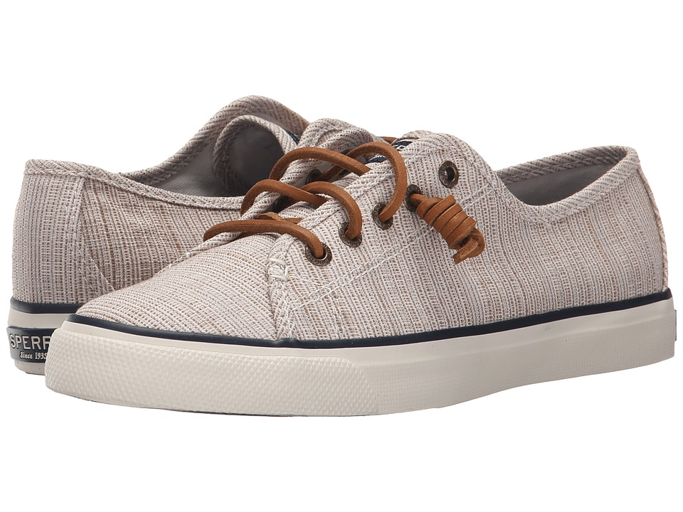 Sperry Top Sider Seacoast Cross Hatch Taupe/Sand Womens Lace up casual Shoes