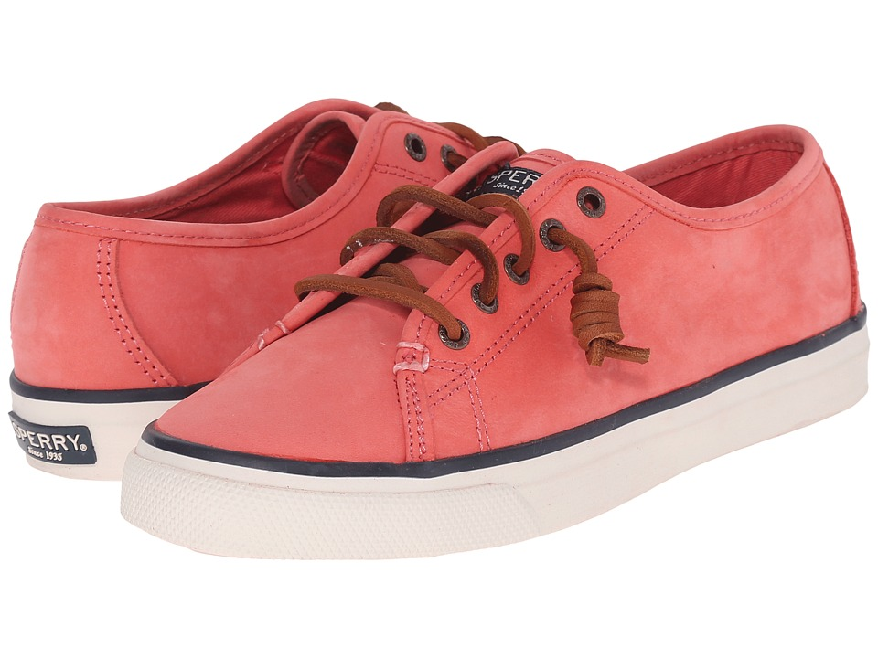Sperry Top Sider Seacoast Nubuck Coral Womens Lace up casual Shoes