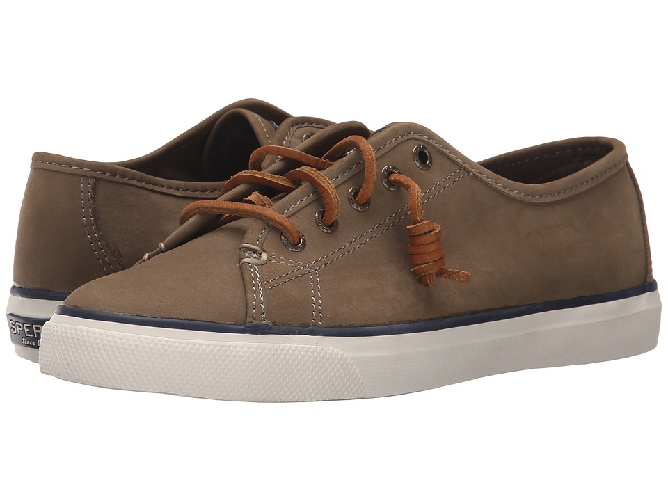 Sperry Top Sider Seacoast Nubuck Taupe Womens Lace up casual Shoes