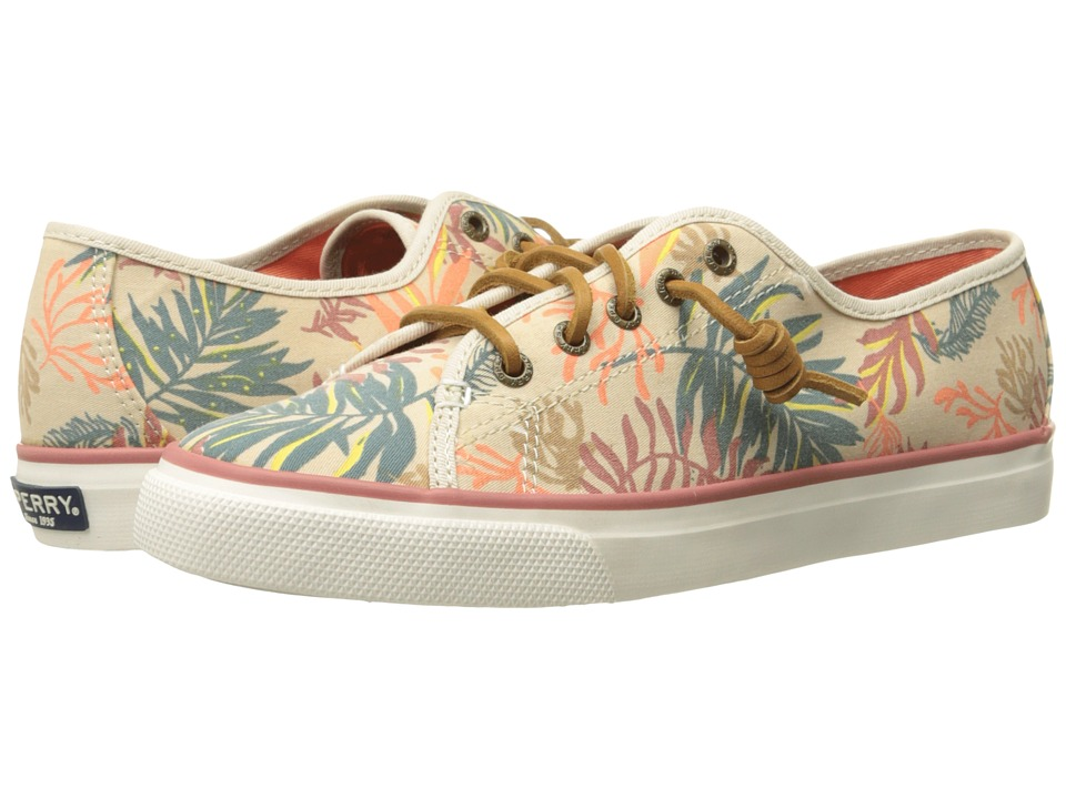 Sperry Top Sider Seacoast Seaweed Print Sand Multi Womens Lace up casual Shoes