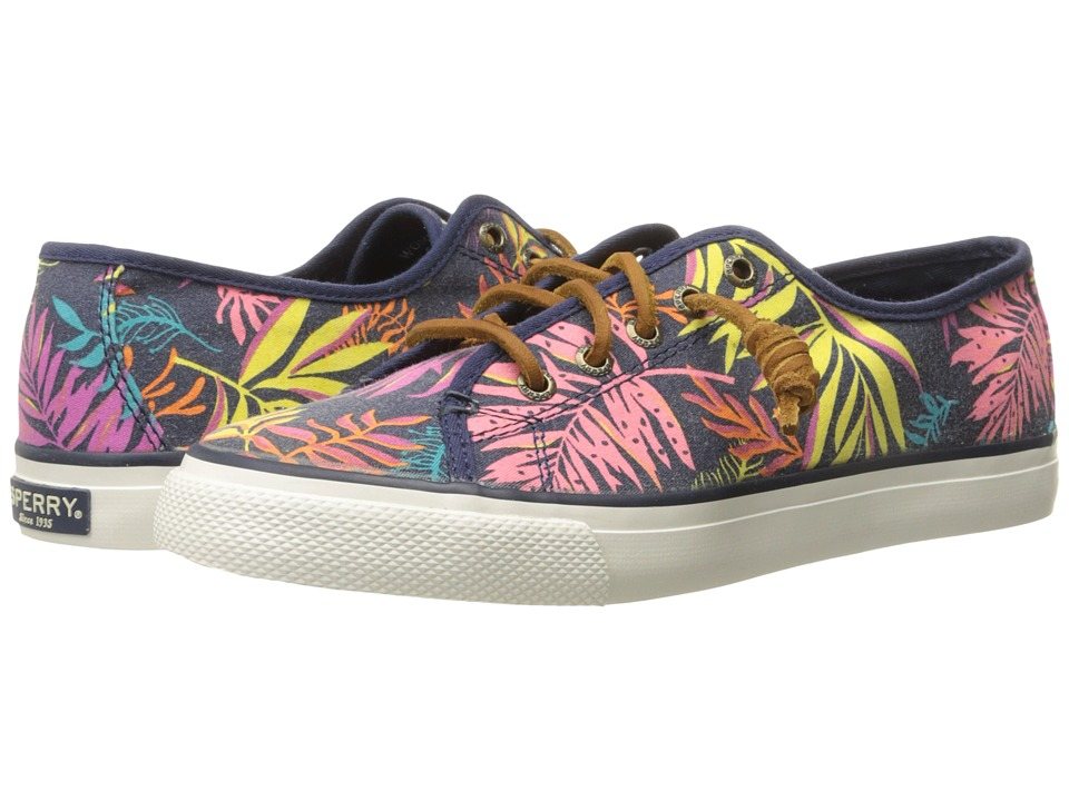 Sperry Top Sider Seacoast Seaweed Print Pink Multi Womens Lace up casual Shoes