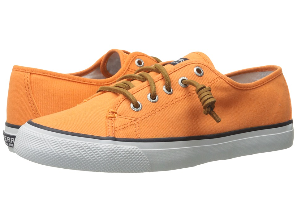 Sperry Top Sider Seacoast Canvas Orange Womens Lace up casual Shoes