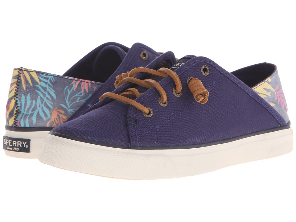 Sperry Top Sider Seacoast Isle Prints Navy Seaweed Womens Lace up casual Shoes