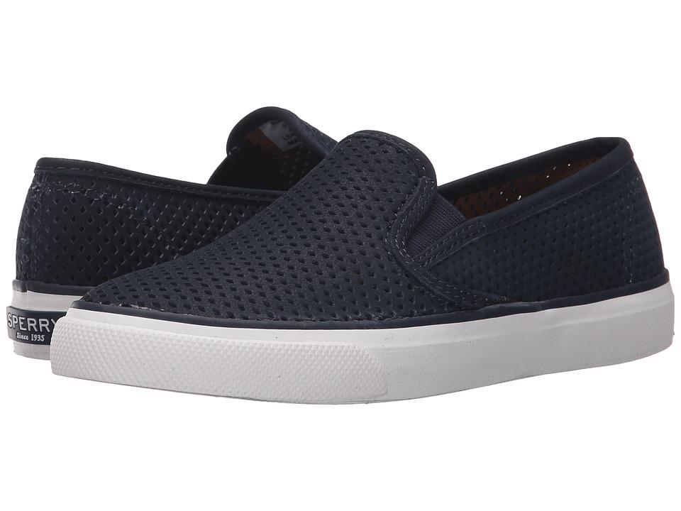 Sperry Top Sider Seaside Perfs Navy Womens Slip on Shoes