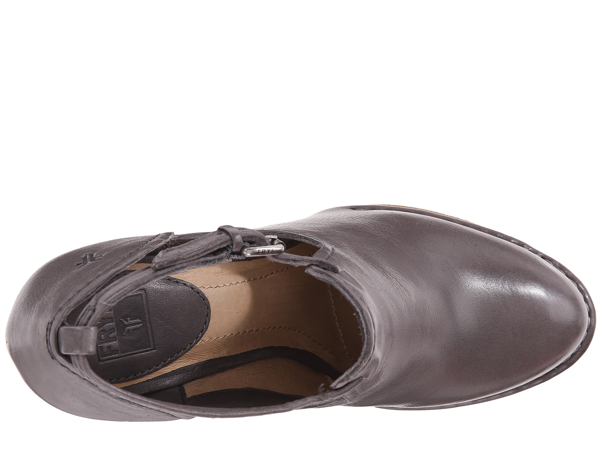Frye Margaret Shootie Charcoal Vintage Leather Zappos