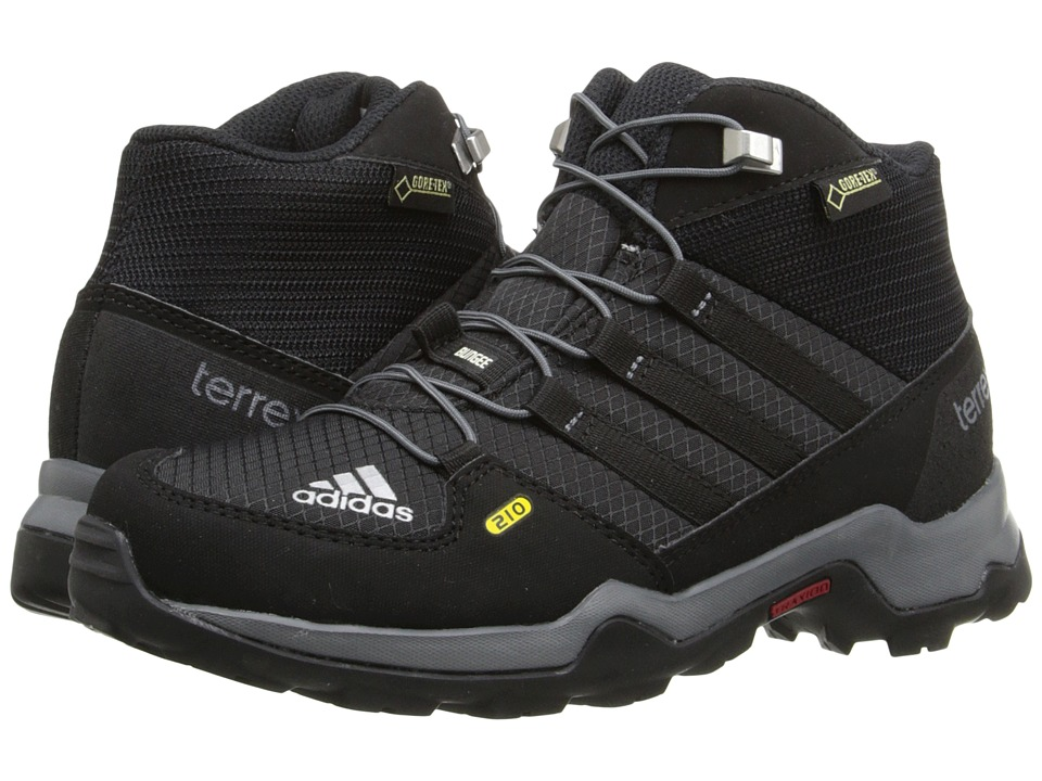 adidas Outdoor Kids Terrex Mid GTX (Little Kid/Big Kid) (Black/Black/Vista Grey) Boys Shoes