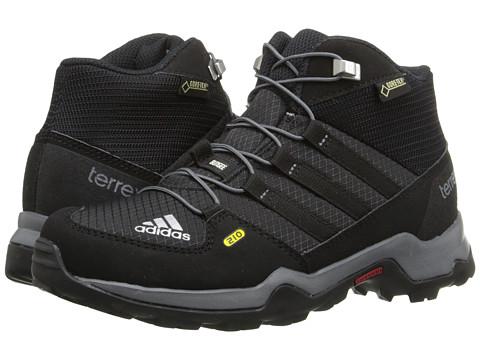 adidas Outdoor Kids Terrex Mid GTX (Little Kid/Big Kid) - Black/Black/Vista Grey