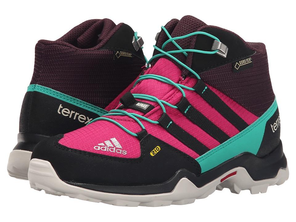 adidas Outdoor Kids Terrex Mid GTX Little Kid/Big Kid Mineral Red/Bold Pink/Black Girls Shoes