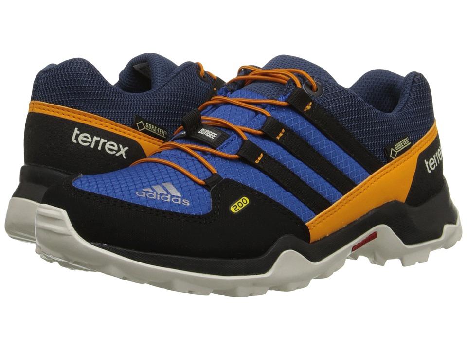 adidas Outdoor Kids Terrex GTX Little Kid/Big Kid Equipment Blue/Black/Equipment Orange Boys Shoes