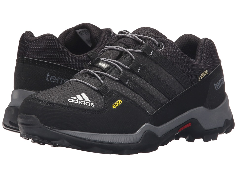 adidas Outdoor Kids Terrex GTX Little Kid/Big Kid Black/Black/Vista Grey Boys Shoes