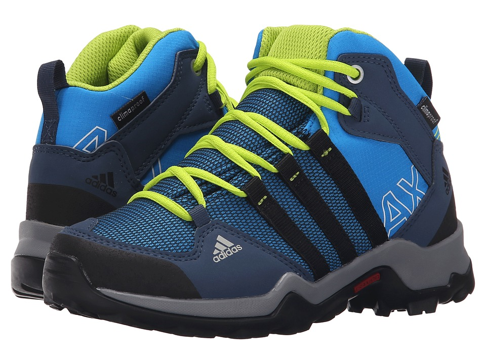 adidas Outdoor Kids AX2 Mid CP Little Kid/Big Kid Shock Blue/Black1/Semi Solar Slime Boys Shoes