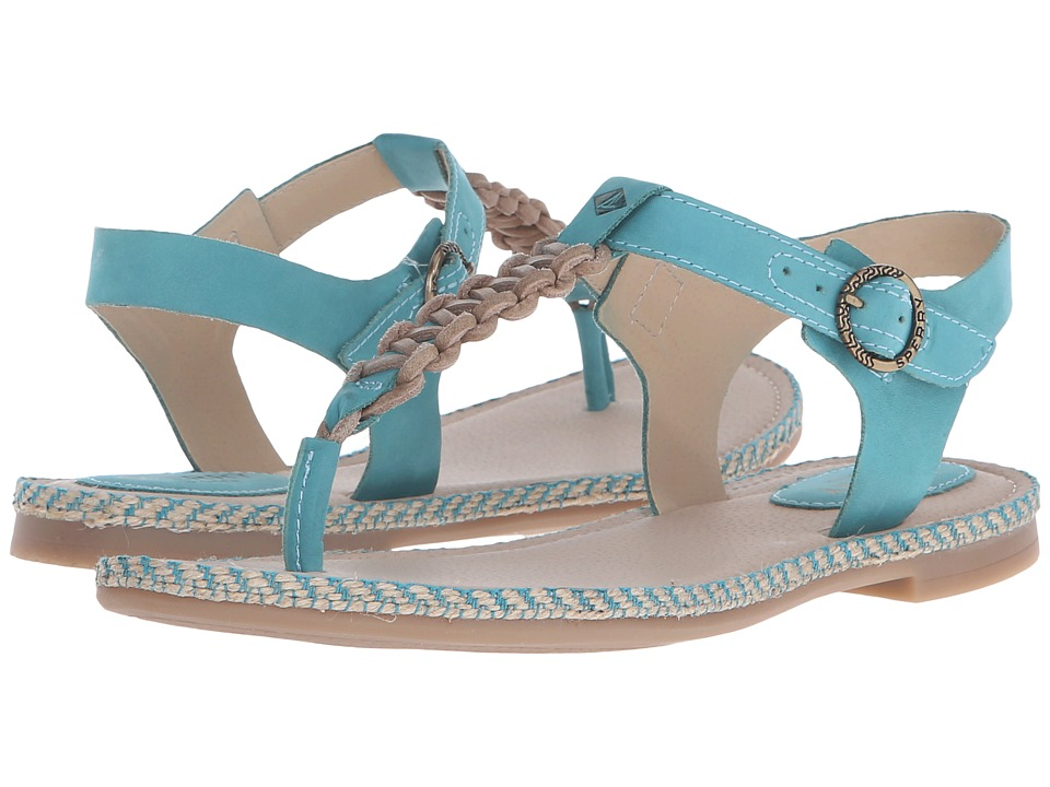 Sperry Top Sider Anchor Away Teal Womens Sandals