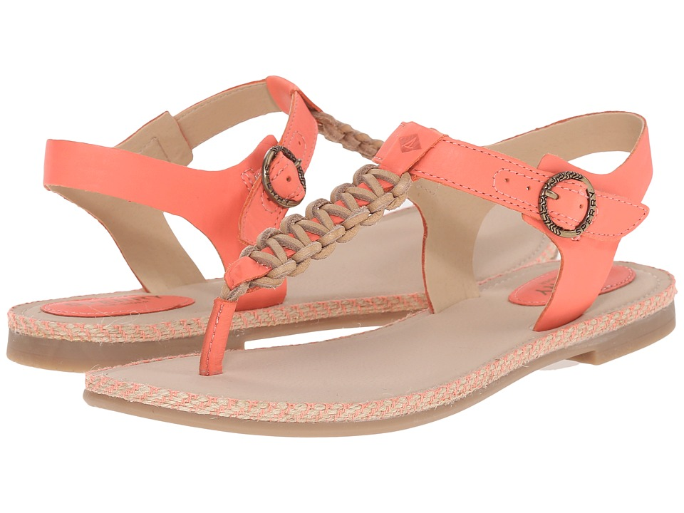Sperry Top Sider Anchor Away Coral Womens Sandals