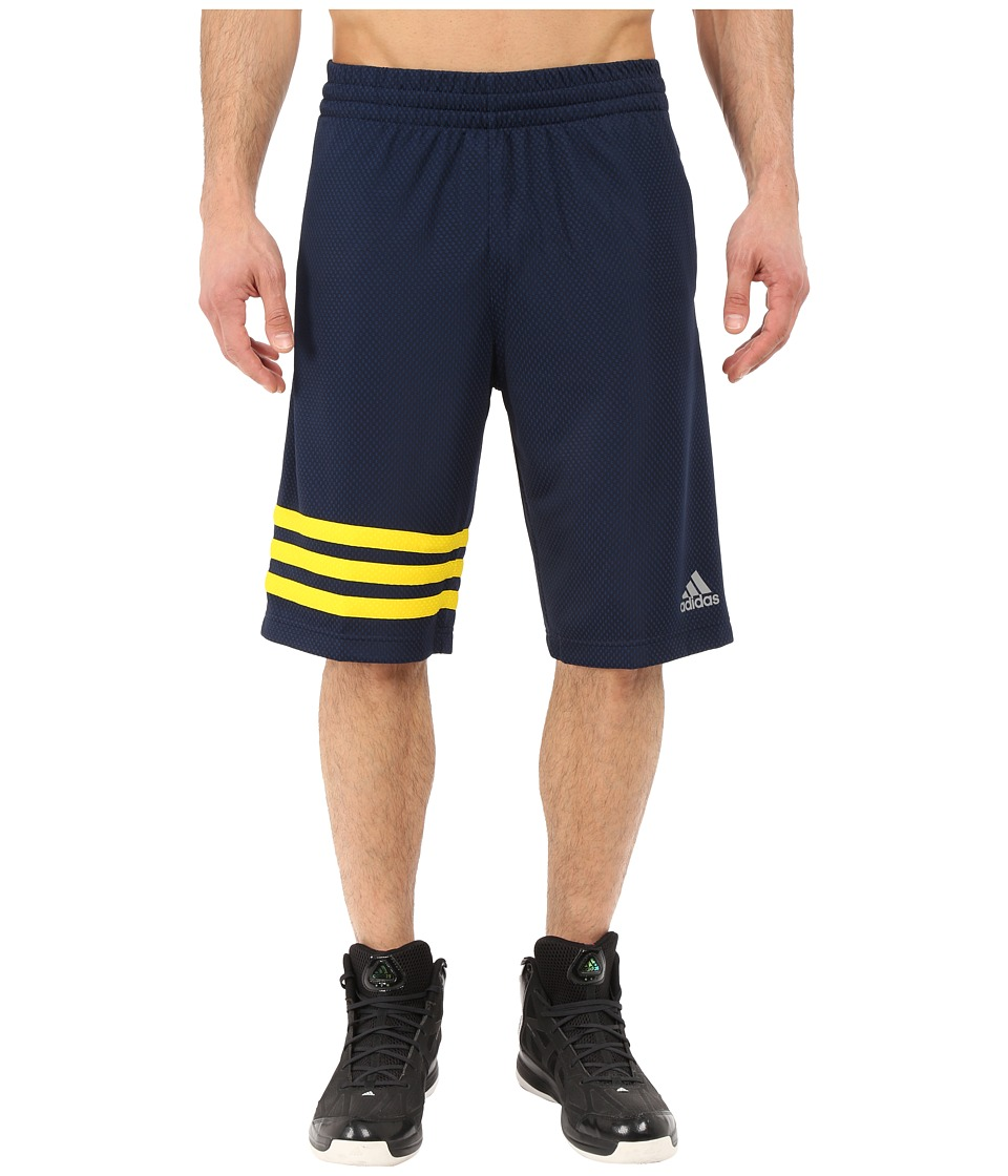 adidas Made In March 3 Stripe Shorts Collegiate Navy/Yellow Mens Shorts