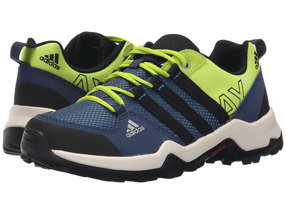 adidas Outdoor Kids AX2 Little Kid/Big Kid Semi Solar Slime/Shock Blue/Black Boys Shoes