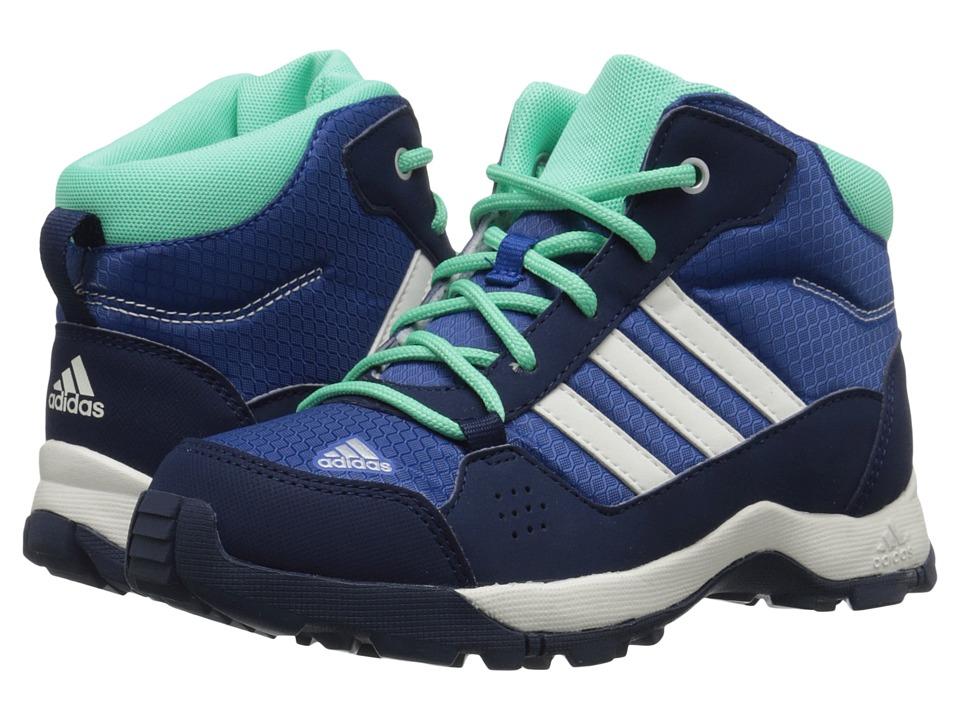 adidas Outdoor Kids Hyperhiker Little Kid/Big Kid Equipment Blue/Chalk White/Green Glow Kids Shoes