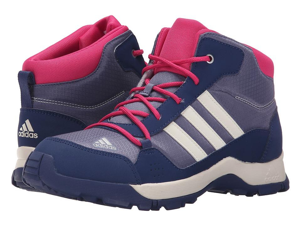 adidas Outdoor Kids Hyperhiker Little Kid/Big Kid Super Purple/Chalk White/Raw Purple Girls Shoes