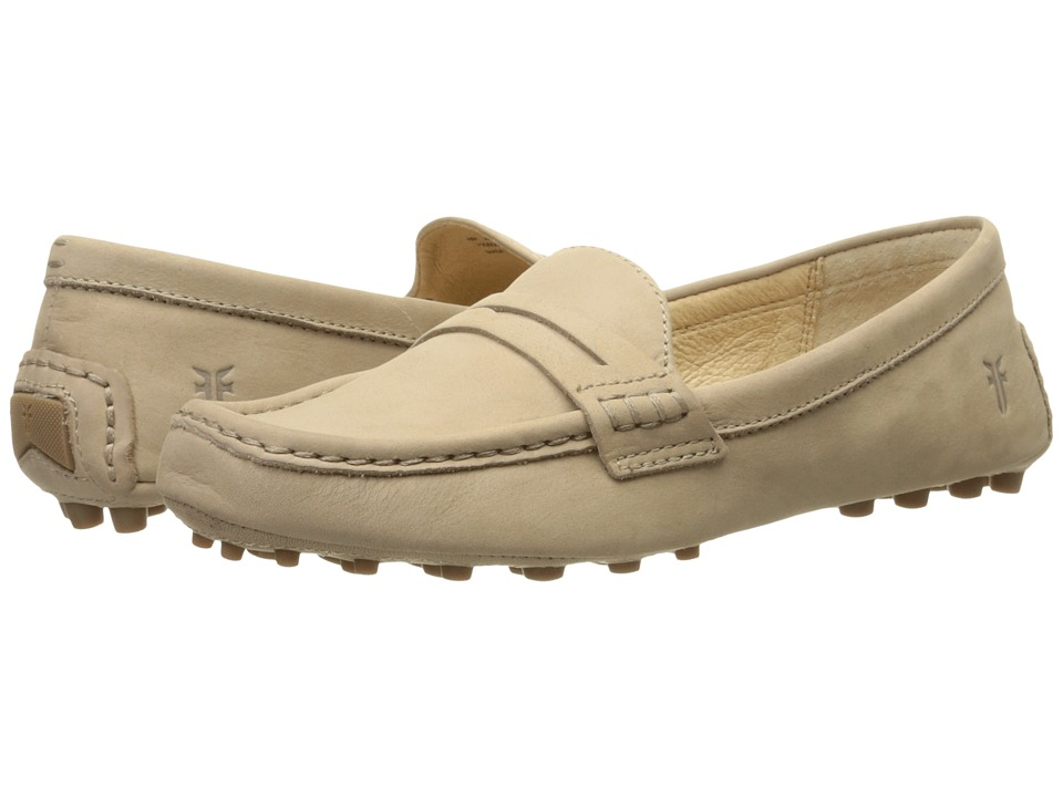 Frye Rebecca Penny Cement Soft Nubuck Womens Slip on Shoes