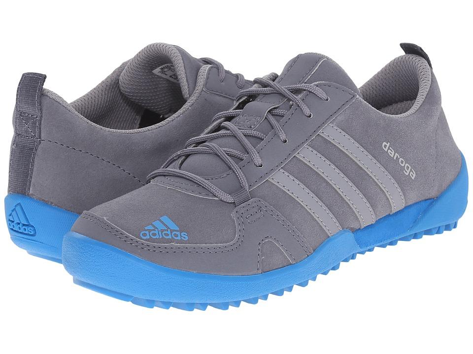 adidas Outdoor Kids Daroga Leather Little Kid/Big Kid Onix/Grey/Shock Blue Boys Shoes
